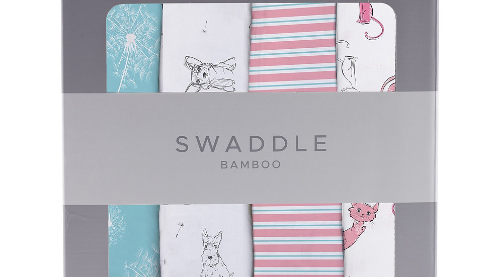 Dandelions Bamboo Muslin Swaddle 4PK