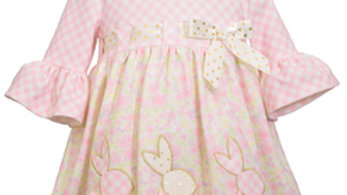 toddlers floral bunny ruffle dress