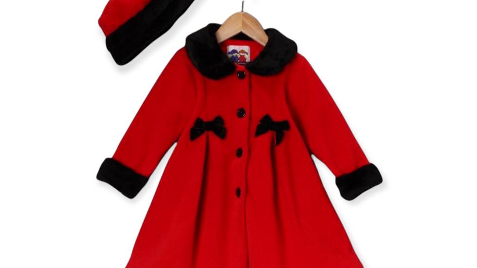 Red Coat & Hat with Black Fur Trim