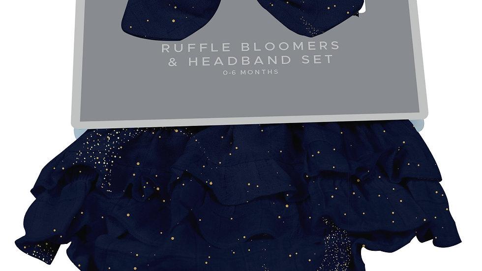 Midnight Moon Bamboo Bloomer Headband Set