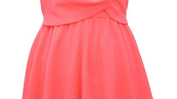 Tween girls neon hot pink dress