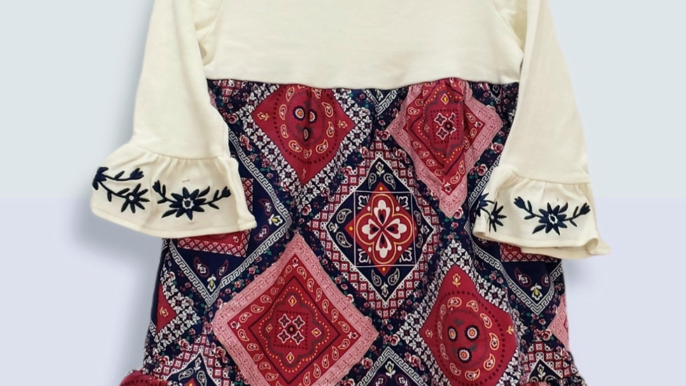 Bandana Print Knit Dress