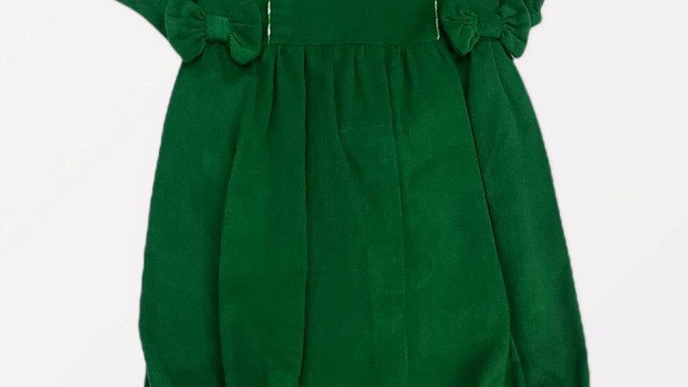 Green Corduroy Girl's Bubble