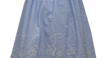 girls blue seersucker dress
