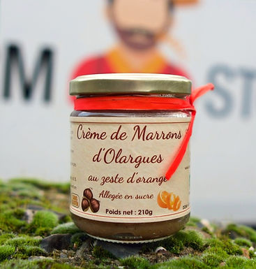 🇫🇷 CREME DE MARRONS D'OLARGUES  ( au zeste d'orange )  210g