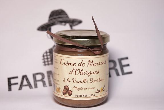 🇫🇷 CREME DE MARRONS D'OLARGUES  ( à la vanille bourbon )  210g