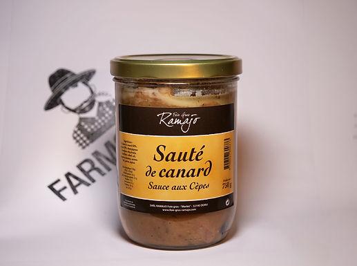 🇫🇷 SAUTÉ DE CANARD sauce aux cèpes ( 750g)