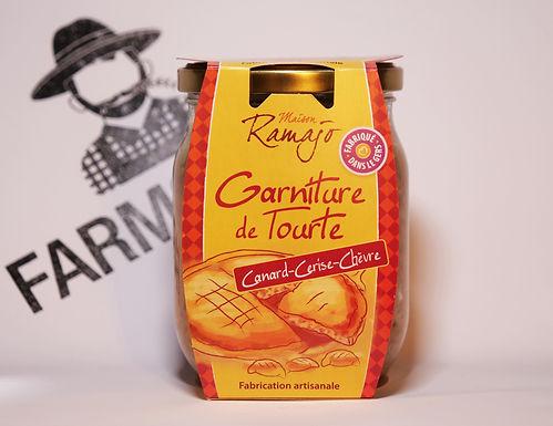 🇫🇷 GARNITURE DE TOURTE canard, cerise, chèvre( 470g)