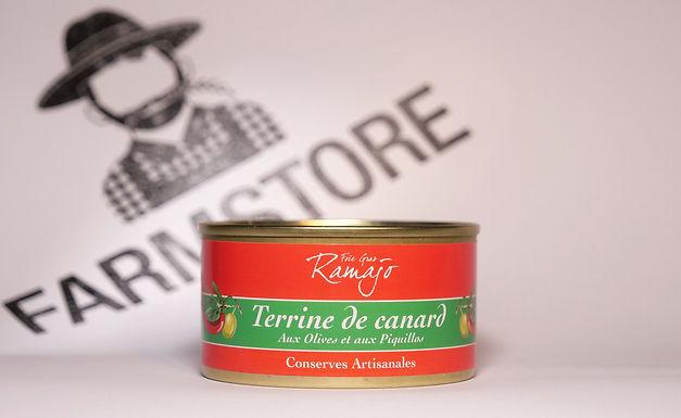 🇫🇷 TERRINE DE CANARD AUX OLIVES ET PAQUILLOS (120G)