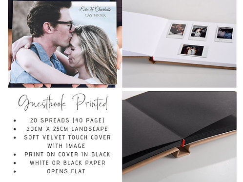 Printed Cover Guest Book