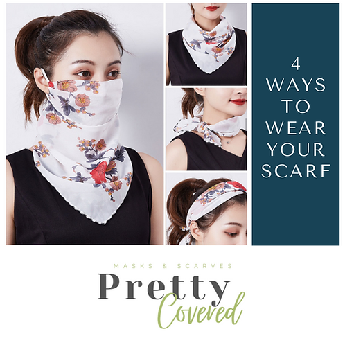 Pretty Covered Scarf Mask