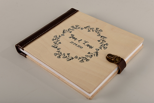 Wood Guest Sign Book