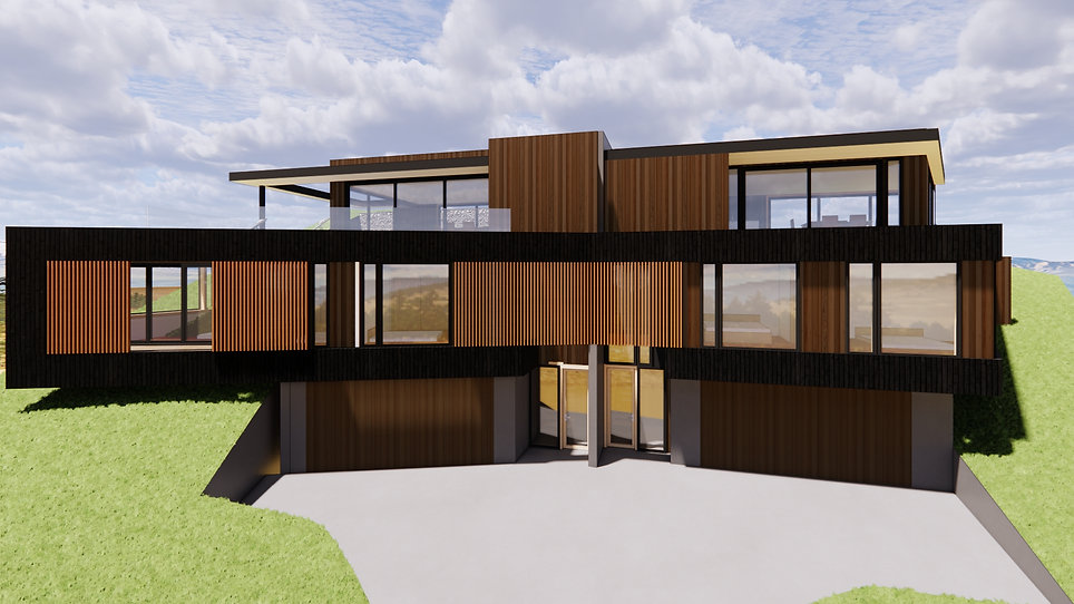 Designed by Tony Richardson ,Group Architecture, Queenstown Apartments