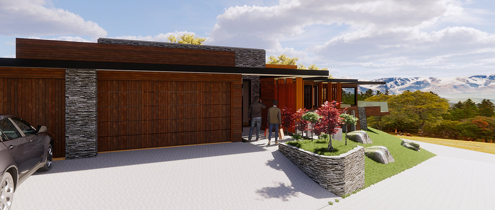 Designed by Tony Richardson ,Group Architecture, New Residence Lake Wanaka in the new Alpha Series, Meadow Stone Estate.