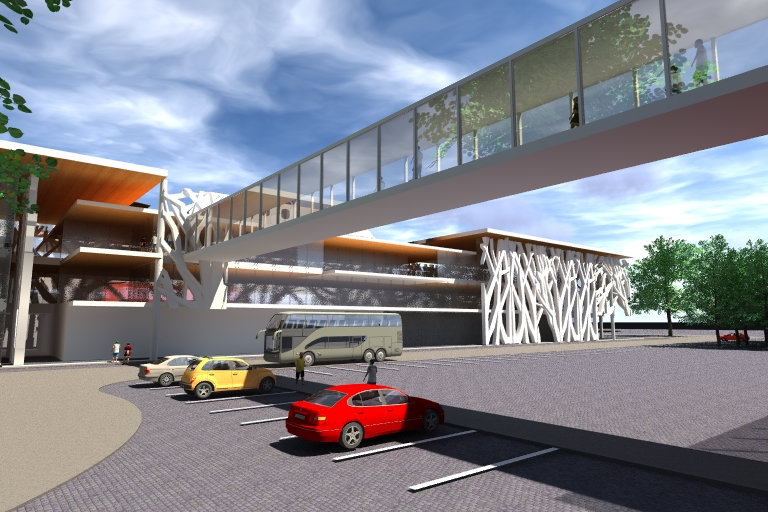 Designed by Tony Richardson,Group Architecture, Auckalnd - Queens Wharf Proposal