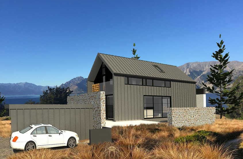 Designed by Tony Richardson,Alpine Bach, Lake Hawea
