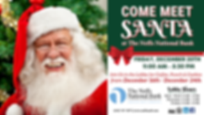 Santa Claus - Come Meet Santa at The Neffs National Bank
