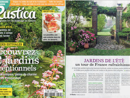 """Le jardin """"les couleurs de l'instant"""" parut dans le Rustica n° 2689."""
