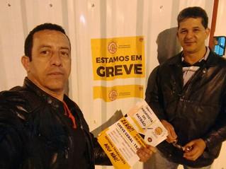 Sindicato da Alimentação participa da greve dos trabalhadores da construção civil
