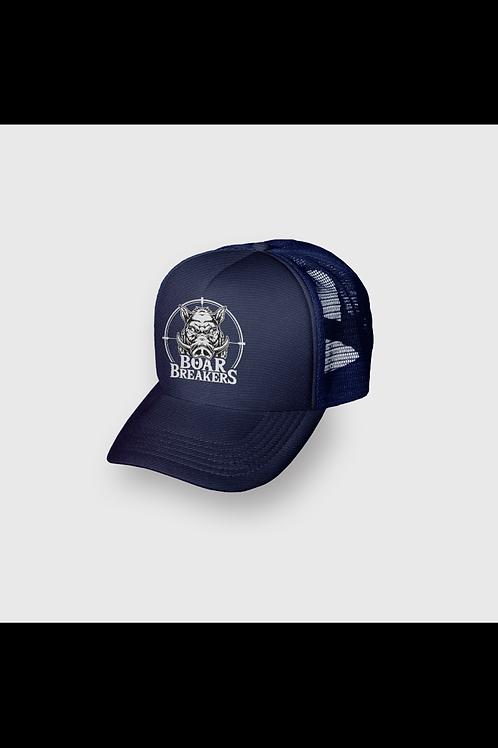 Navy Blue Boar Breakers Trucker Cap