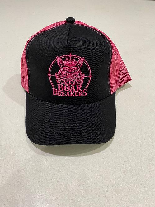 Black / pink boar breakers original cap