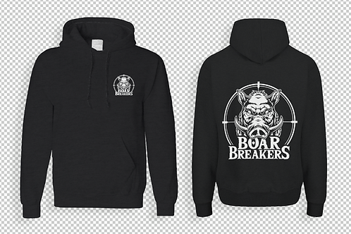 Black With White Logo Hoodie