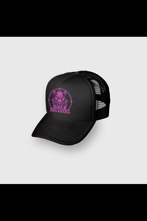 Pink Boar Breakers Trucker Cap