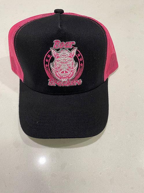 Black/ pink boar breakers classic cap