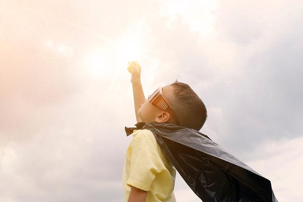 Canva - Happy Kid Play Superhero , Boy P