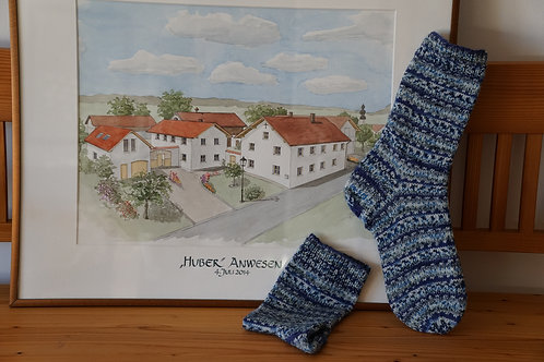 Socken, Gr. 42/43, handgestrickt
