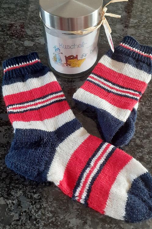 Socken, Gr. 36/37, handgestrickt