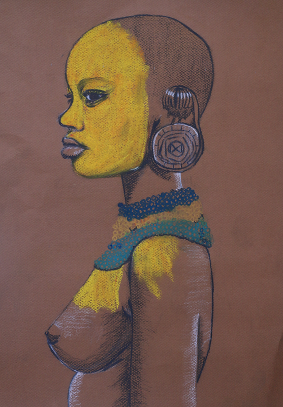 Tribel Woman Drawing