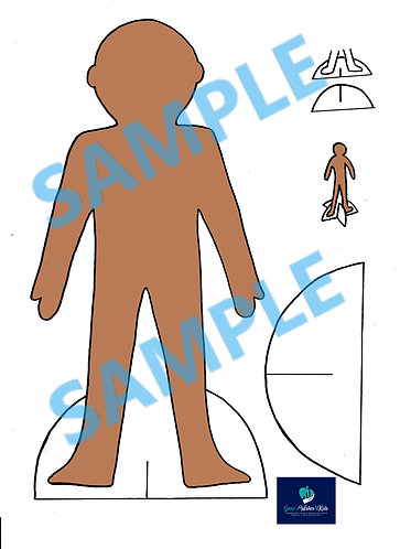 Brown Paper Doll Set