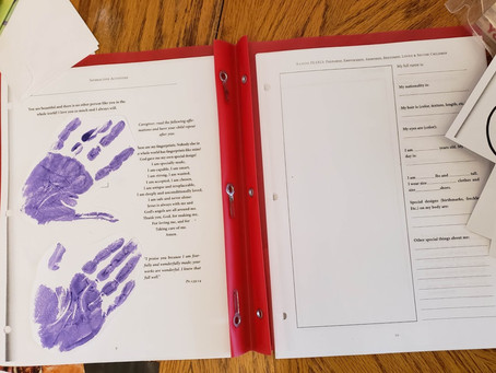 Assembling your Raising PEARLS Activity Book