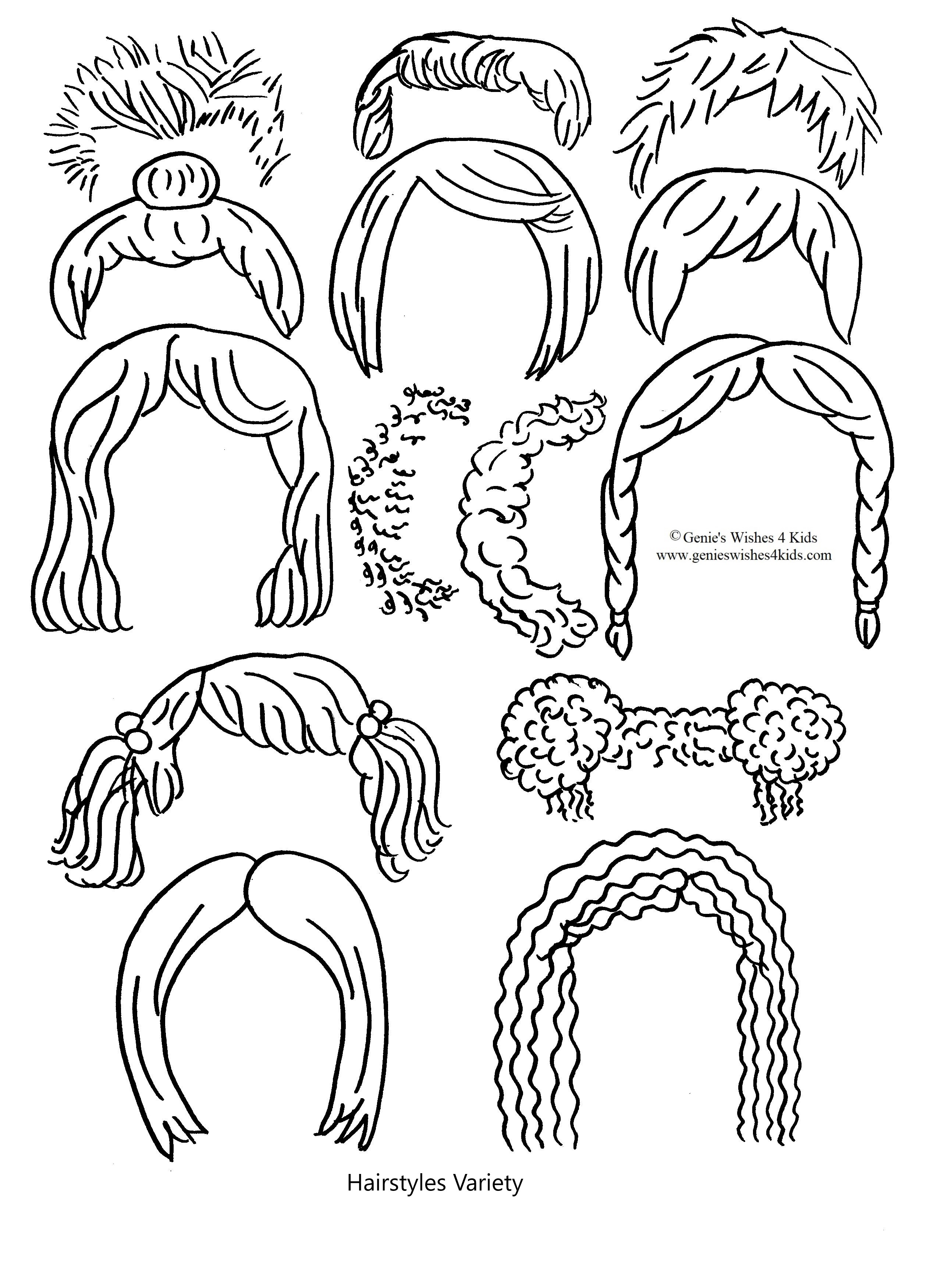 Hairstyles variety