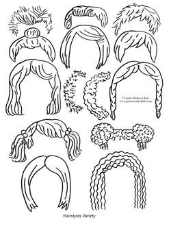 Hairstyles variety