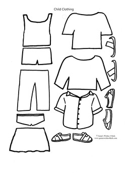 """Clothing for 7.5"""" paper doll"""