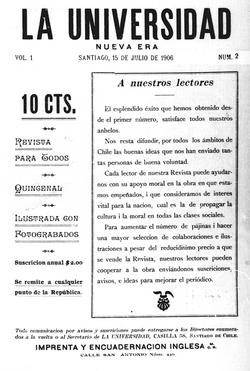 Portada Revista La Universidad (Jul.15,1906)