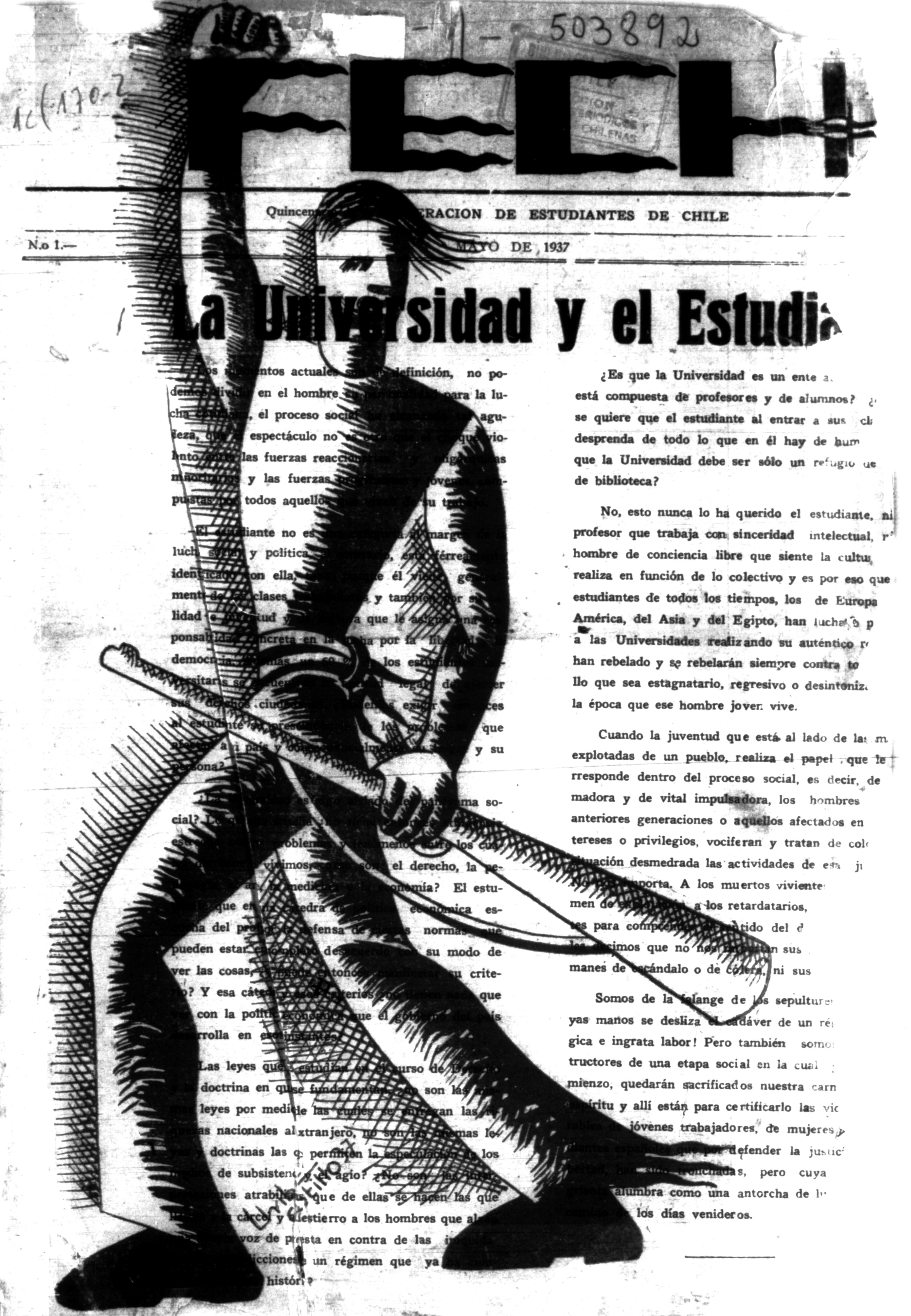 Portada Revista FECH (May.01,1937)
