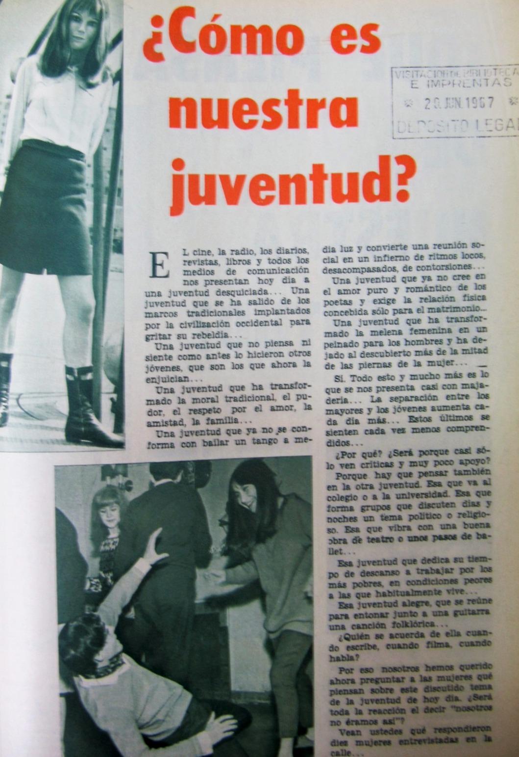 Reportaje, revista Amiga (Jun.21,1967)