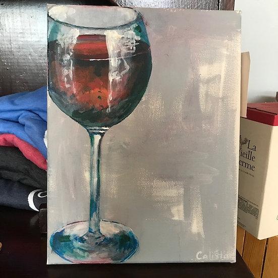 Rough Edges Canvas Wine Glass