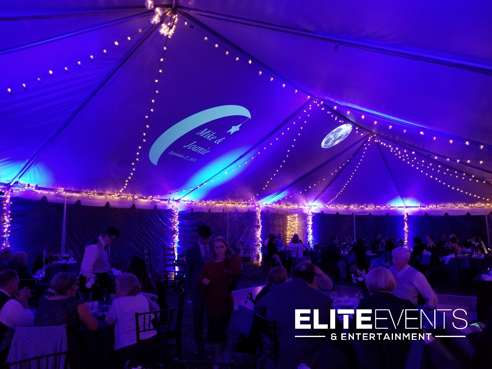 louisville wedding dj tent uplightin