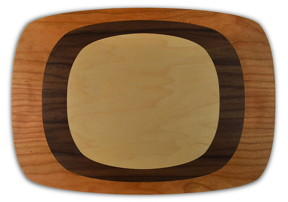 tree ring placemats: CWM, set of four