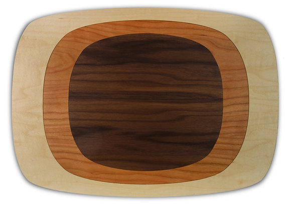 tree ring placemats: MCW, set of four