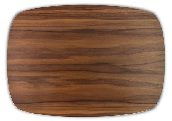 single species placemats: walnut, set of four