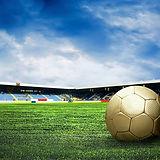 サッカー場でサッカーボール