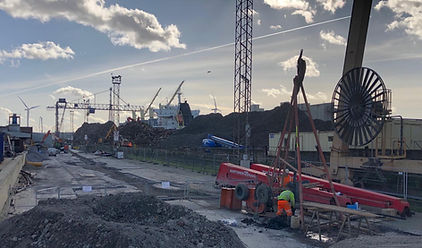 Site Photo Tilbury Docks - Cable Percuss