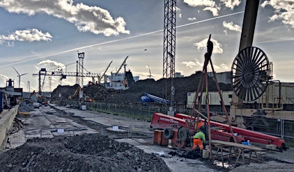 Site Photo Tilbury Docks - Cable Percuss