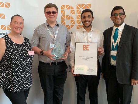 JOMAS Sponsor Brunel University Engineers 2019 Global/Societal Challenges Award