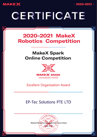 MakeX Spark Competion Certificate Excell